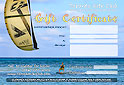Snowkiting lessons and kitesurfing lessons  gift certificates are available